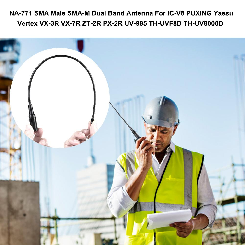 Walkie - Talkie <font><b>Antenna</b></font> NA-771 SMA - Male Dual - Band 144 / <font><b>430MHz</b></font> <font><b>Antenna</b></font> NA771 For Yaesu TYT TH-UV8000D For Keneood TYT BaoFen image