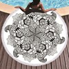 Gedruckt Blume Mandala Große Strand Handtücher Mikrofaser Handtuch Strand Erwachsene Schwarz Geometrische Handtücher Bad Decke Yoga Matte Toallas