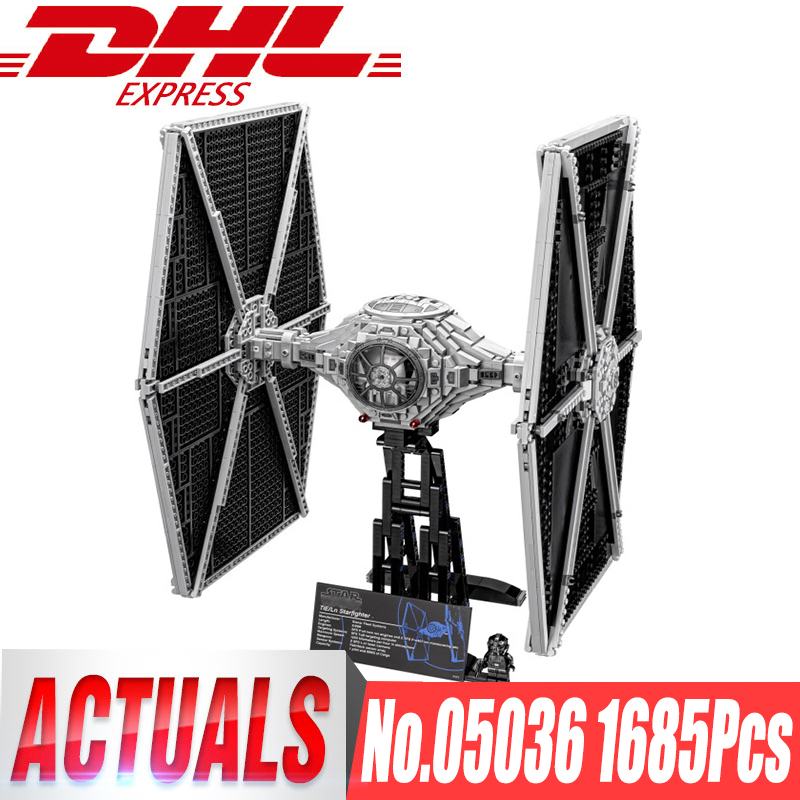 LEPIN 05036 STAR Holiday toy 1685pcs TIE Model Fighter Building blocks Bricks Classic Compatible legoingls 75095 Boys Gift WARS 2018 new lepin 05036 1685pcs star series wars tie fighter model building kits blocks bricks compatible children toys gift 75095