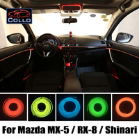 9M A Set EL Wire / For Mazda MX 5 / Miata / Roadster / RX 8 / Shinari / Car Romantic Atmosphere Lamp / Console Decorative Strip