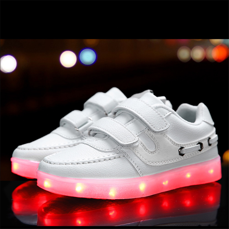 Children Shoes With Light Chaussure Led Lumineux 2017 New Fashion Zapatos USB Charge Light Up Led Luminous Shoes Color 50Z0059 8 color led luminous shoes unisex glow shoe men women fashion lover tide leather recharge usb light shoes