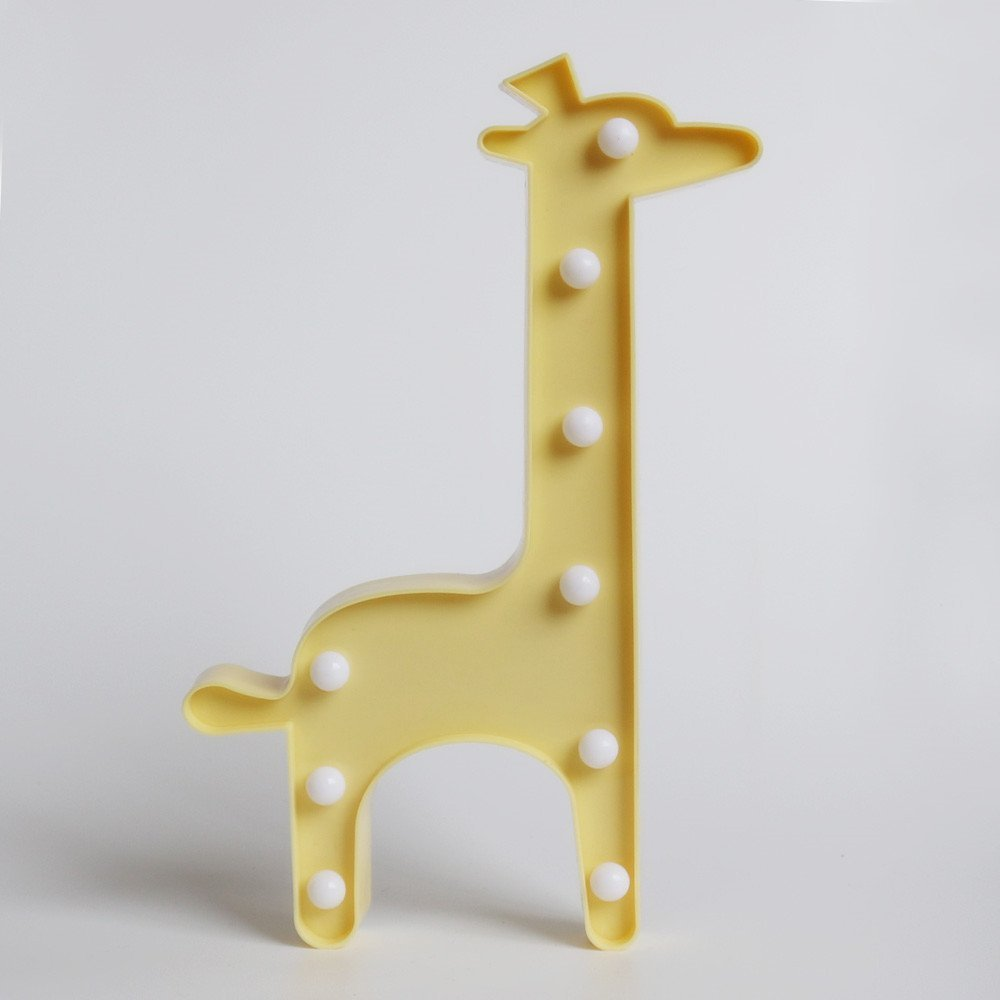 Lumiparty Marquee Animal Giraffe LED Desk Table Night Light with 9 ...