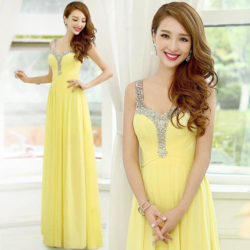 Симпатичное Дешевое новое длинное шифоновое вечернее платье трапециевидной формы вечернее бальное платье длинное платье для выпускного вечера