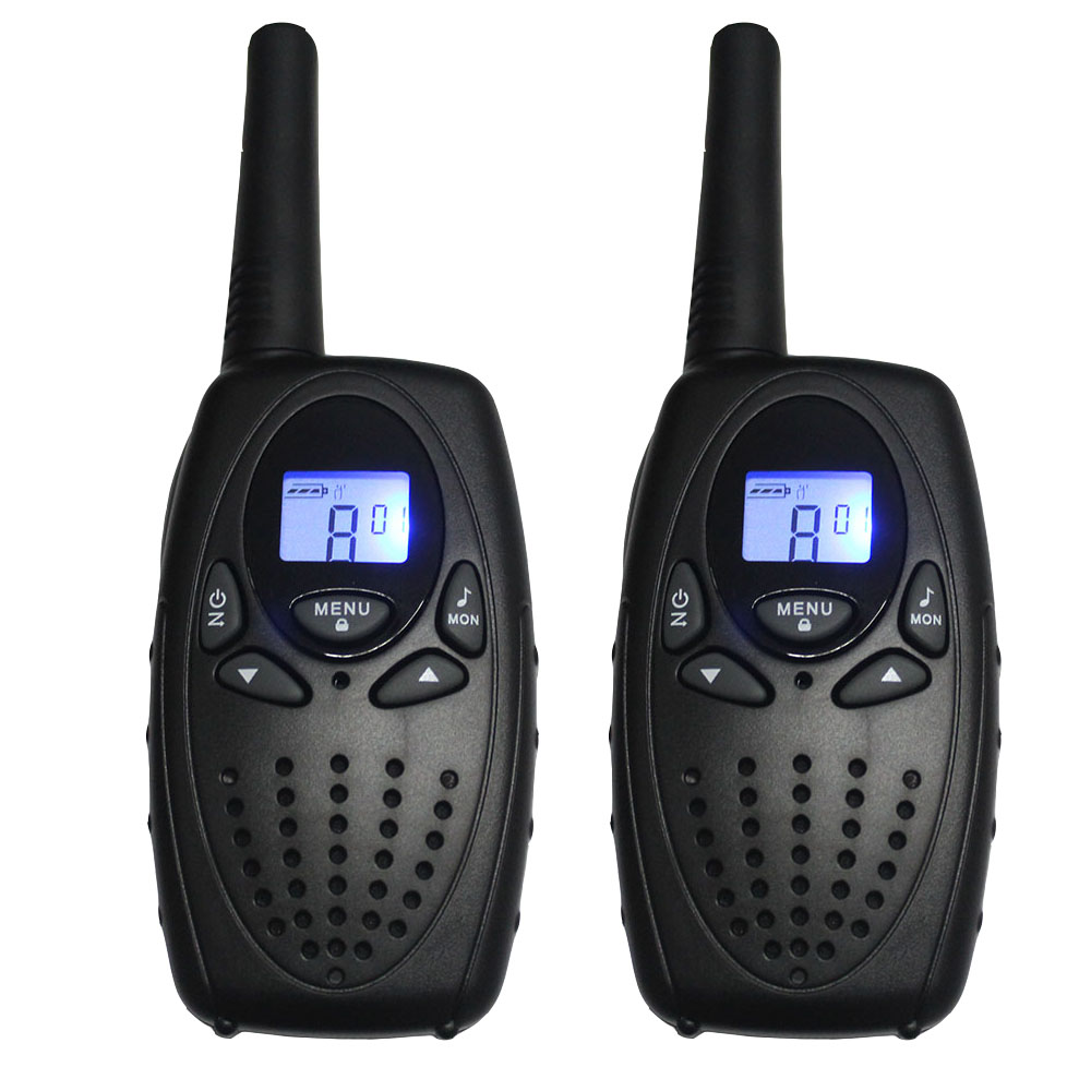 Pair TS628 Portable Walkie Talkie Black Two Way Radio Transceiver PMR 8CH FRS GMRS 22CH 1W interphone max 5km long range talkie