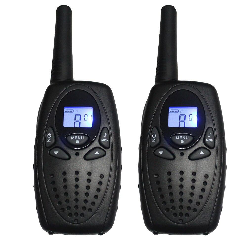 Par TS628 Transceptor de Radio Bidireccional Portátil Walkie Talkie Negro PMR 8CH FRS GMRS 22CH 1W interfono max 5 km talkie de largo alcance