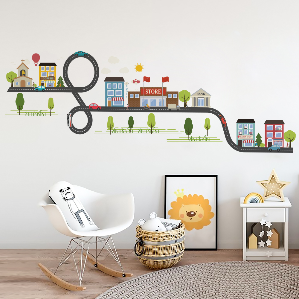 US $3.58 25% OFF|Bedroom Wall stickers for kids room stickers House school  home boy bedroom wall decals window poster 3d wall sticker wallpaper-in ...