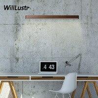 Willlustr Wood LED Wall Lamp Modern Sconce Black Walnut Finland Pine Living Room Bedroom Restaurant Hotel Japan Style Lighting