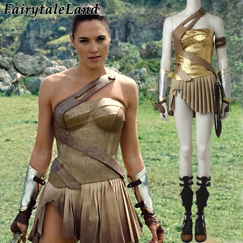 Wonder Woman Diana Prince Costume  Cosplay Halloween Costumes For Woman Justice League Wonder Woman Cosplay Suit With Boots