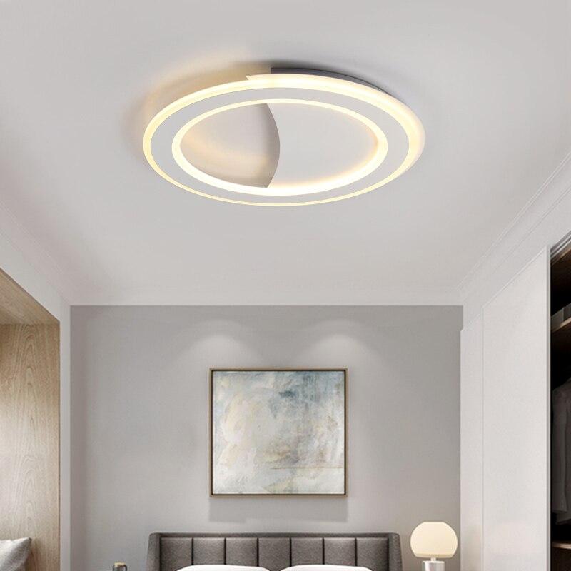 Round Minimalist Modern led Ceiling Lights For Living room Bedroom Indoor plafon led black/white led Ceiling Lamp light fixtures