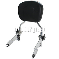 Sissy Bar Adjustable Rotatable Luggage Rack Detachable Upright Passenger Backrest Pad For Harley Touring Street Glide
