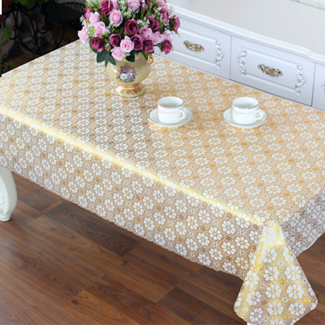 Nice PVC Tablecloth Dining Table Plastic Cover Coffee End Table Cloth Waterproof  Round Square Rectangle Custom Made