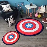 Cartoon Round Rug Carpets For Living Room Soft Flannel Carpet Kids Room Anti Slip Rugs For