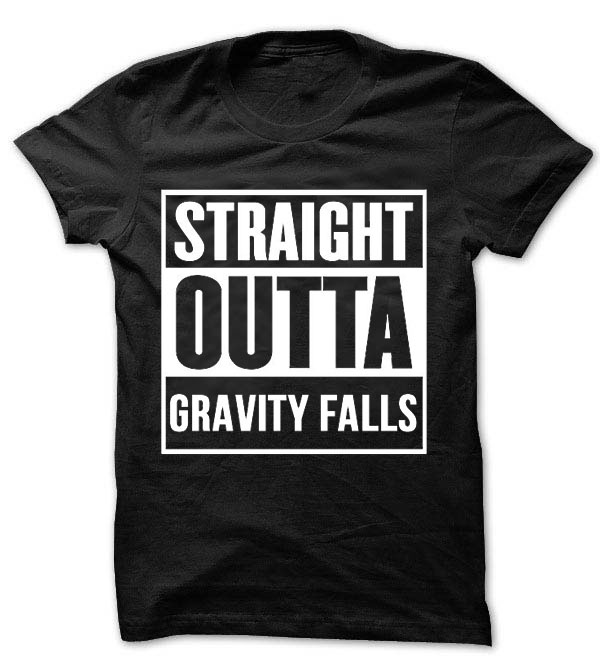 "T-shirt unisexe, ""straight out Gravity fall"", inspiré, T1671"