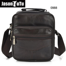Genuine Leather Bag Small Men Shoulder Crossbody Bags For Messenger Handbag Brown Mens Briefcase