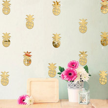 12pcs/set Acrylic Mirror Wall Sticker DIY Mural Decal Home Art Nursery 3D Wall Stickers Pineapple Decoration for Living Room