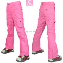 2014 женщин лыжные брюки розовый красный свет синий сноуборд брюки открытый спортивные брюки брюки водонепроницаемый катание на лыжах jupon 10К хз-Л