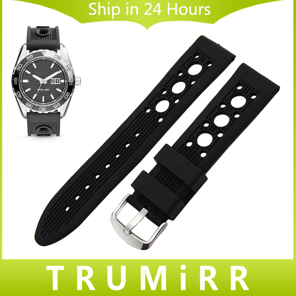 Silicon Rubber Watchband for Armani AR Men Women Watch Band Wrist Strap Replacement Bracelet Black 19mm 20mm 21mm 22mm 23mm 24mm replacement cowhide leather common watchband 18mm 19mm 20mm 21mm 22mm men wristwatch band bracelet promotion free tools diy hot