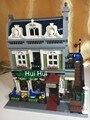 LEPIN 15010 Experto Creador Ciudad Calle Restaurante Parisino Modelo Bloques de Construcción de mini Ladrillos brinquedos 10243