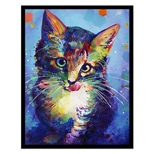 Diy 5d diamond painting cartoon animal round mosaic home decoration embroidery pattern handmade