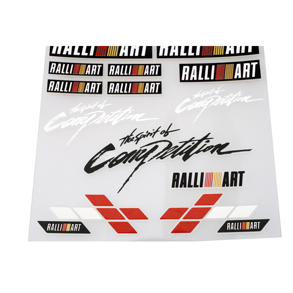Etie Car-styling The Spirit of Competition Accessories Ralliart Car Sticker and Decal for Mitsubishi Outlander Asx Lancer Pajero