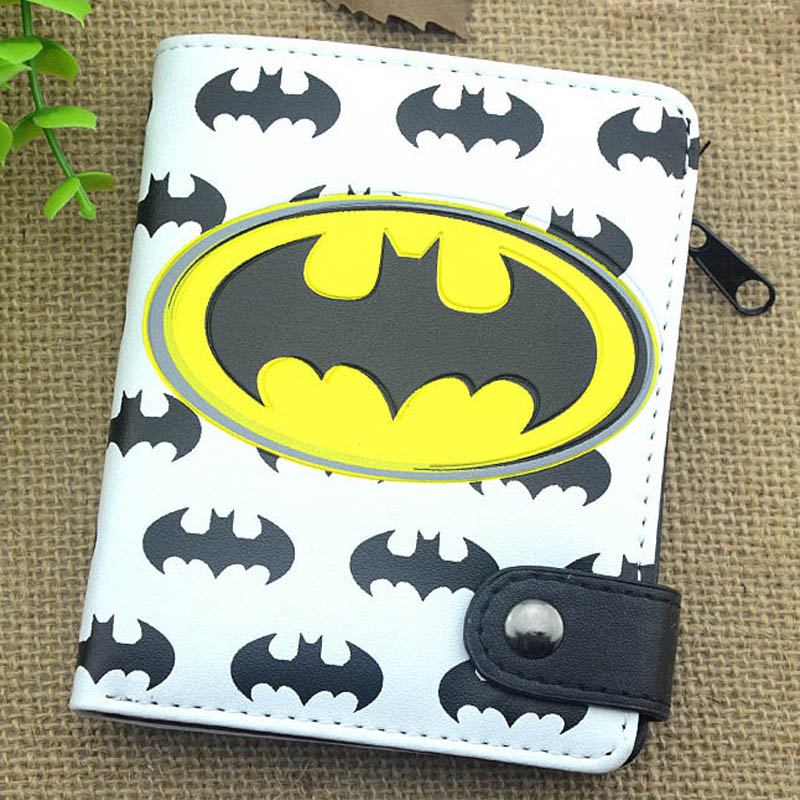 Men Wallets Purse Card-Holder Thrones/attack Batman/game Hasp Captain-America/naruto