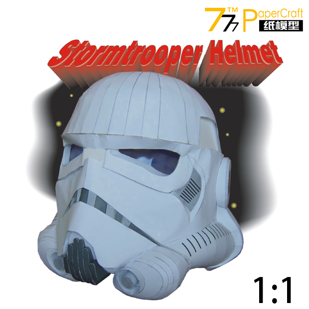 Paper Model Star Wars Commandos 1: 1 Scale Helmet Can Worn On Head DIY Handmade Toy storm snow space shuttle energy number carrier rocket puzzle handmade paper model rocket 1 96 scale high 45cm diy paper art