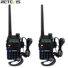 2 pcs Retevis RT 5R Talkie Walkie VOX 5 W 128CH UHF/VHF Jambon cb Fréquence Radio Bidirectionnelle Comunicator Hf Émetteur-Récepteur A7105A