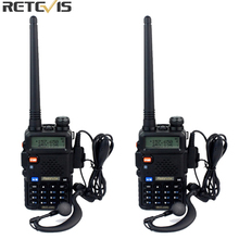 2pcs Retevis RT 5R Walkie Talkie DTMF VOX 5W 128CH UHF/VHF Ham cb Frequency Two Way Radio Comunicator Hf Transceiver A7105A