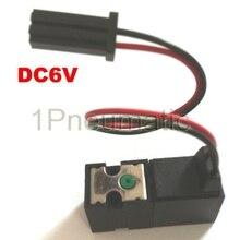 2 шт. 10 мм носок машина мини электромагнитный клапан Wrie Тип разъема DC6V носок нейлоновый клапан Малый