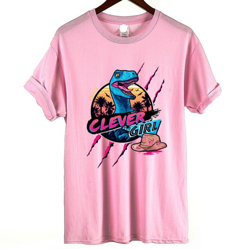 Harajuku T Shirt Funny Jurassic Park Dinosaur Clever Girl Print T
