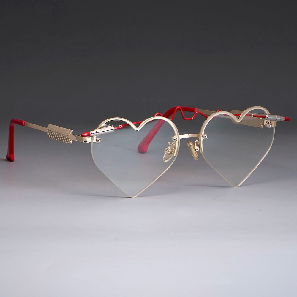 Red Bullet Heart Shaped Sunglasses 3