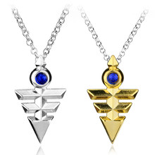 Hot Anime Jewelry Yugioh Cosplay Pyramid Egyptian Eye Of Horus Yu-Gi-Oh Necklace Yugioh Zexal Yuma Cosplay Necklace Gift(China)