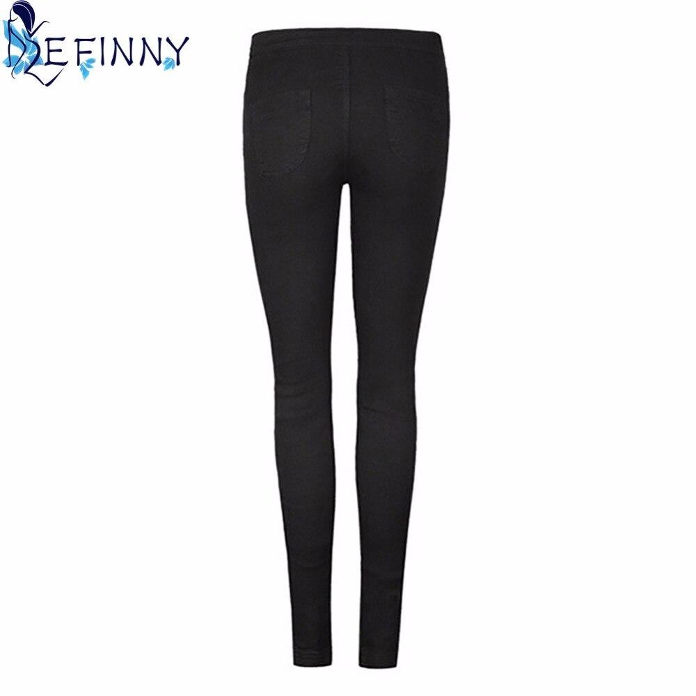 Women Long Pencil Pants Leggings Skinny Slim Denim Jeans Trouser Stretchy Stylish