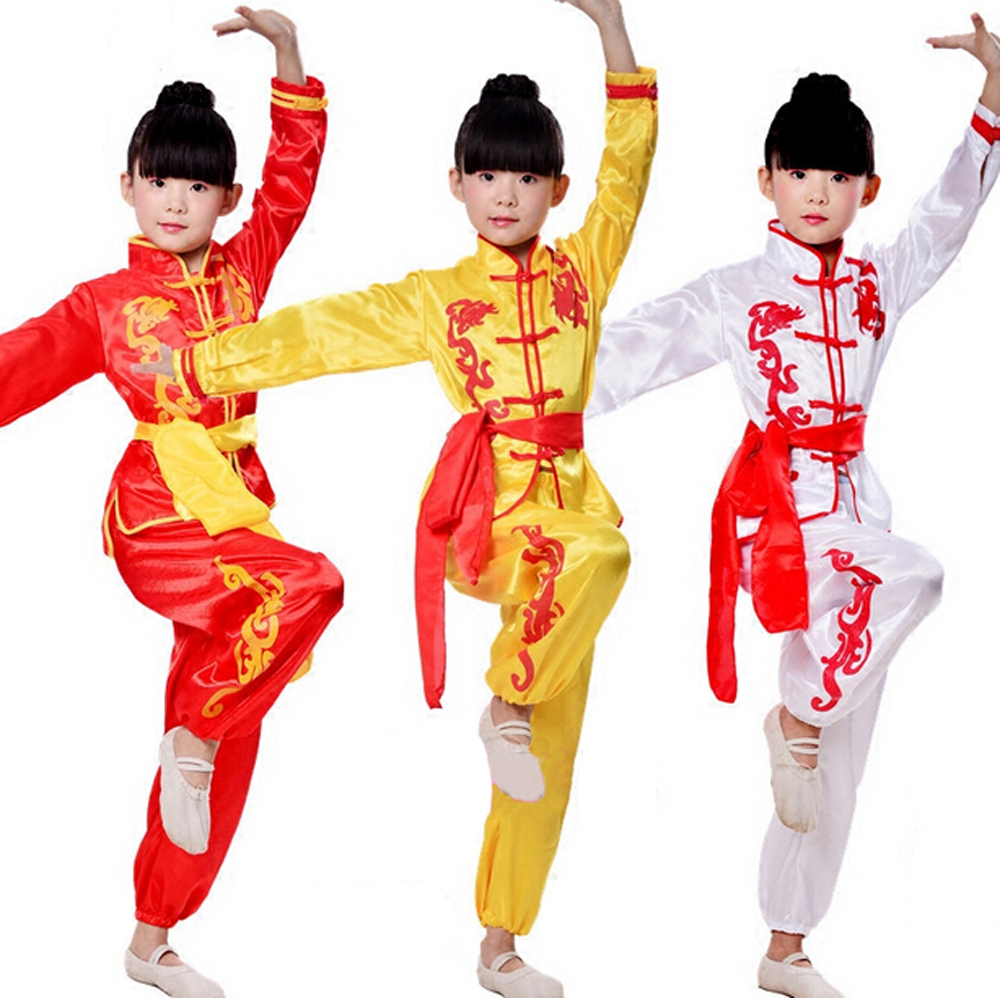 2018 New Chinese Kung Fu National Costume Kids Tai Chi Clothing Suits Performance Cloth Martial Art Show Costumes For Boys Girls