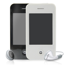 Black/White 4GB 2.8″ Touch Screen I9 4G Style Mp3 Mp4 MP5 Player with Video Camera FM Radio Photo Function Free shipping