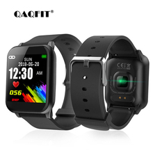 Купить с кэшбэком QAQFIT Z02 Smart Watch Color Screen Sport Pedometer Heart Rate Monitor Push Message For iOS Android Fitness Tracker Wristband