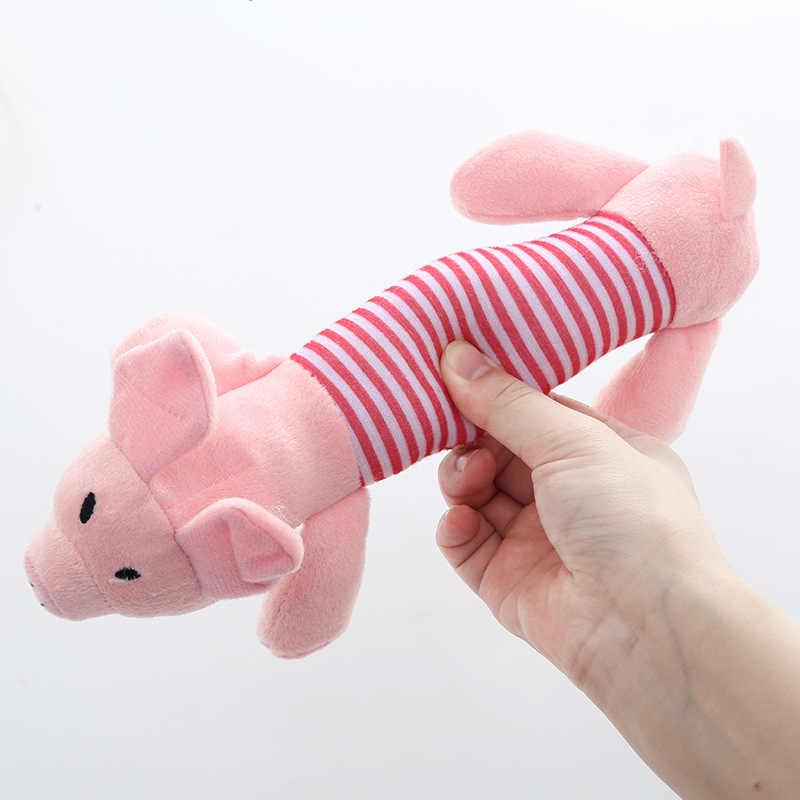 ตุ๊กตาสุนัข Chew Squeak ของเล่นเป็ดช้างสัตว์เลี้ยงเชือกของเล่นลูกสุนัขเสียงการฝึกอบรมของเล่นออกแบบให้ใช้งานได้สะดวกโยน Pick Up Bone ของเล่น