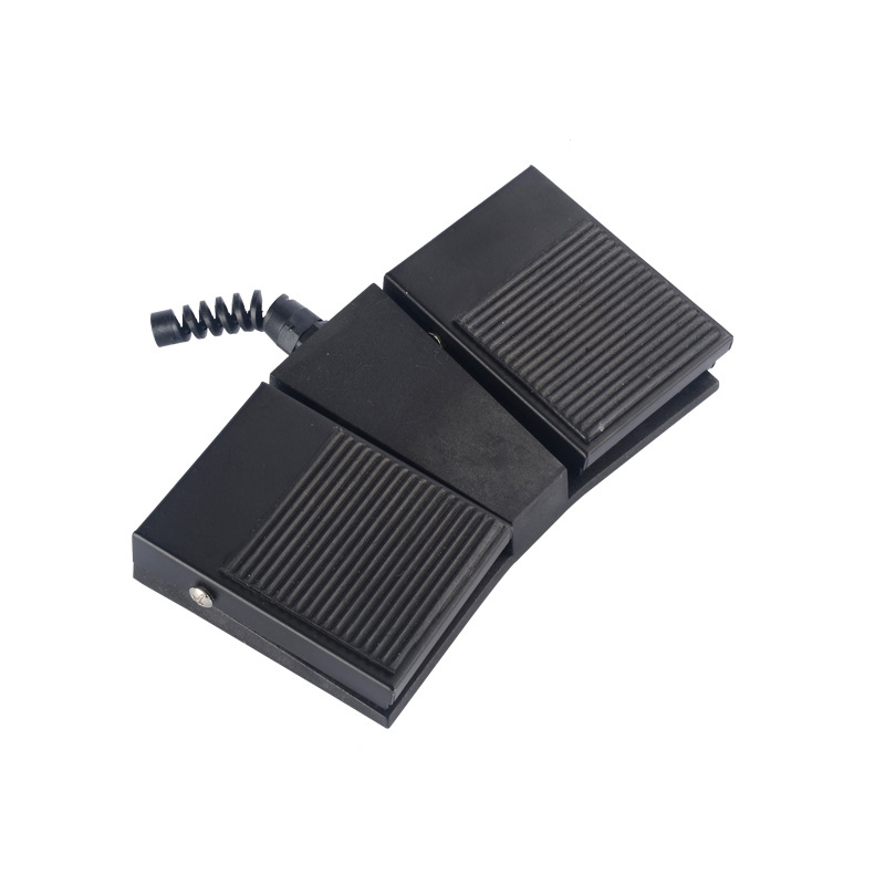 TFS1-2H Factory direct Nonslip SPDT NO/NC 2015 new design popular hot sale CE black Rubber Surface double pedal foot switch