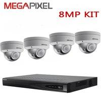 camera kit hikvision 8mp 4k Network video Surveillance Security System DVR NVR ip camera cctv combo kit