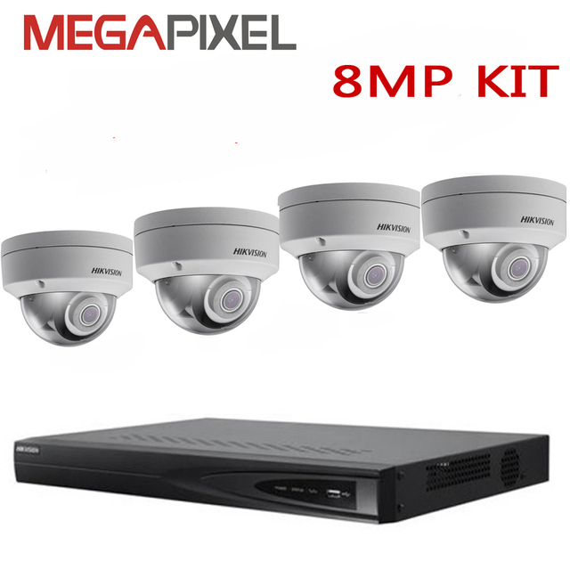 camera kit hikvision 8mp 4k network video surveillance security system dvr nvr ip camera cctv combo - Nvr Security System