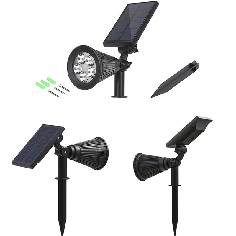 Waterproof IP65 Outdoor Garden LED Color light Solar Light Super Brightness Garden Lawn Lamp Landscape Spot Lights