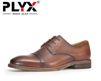 Brand PHLIY XUAN New 2017 England Retro Genuine Leather Men Dress Shoes 100 Handmade British