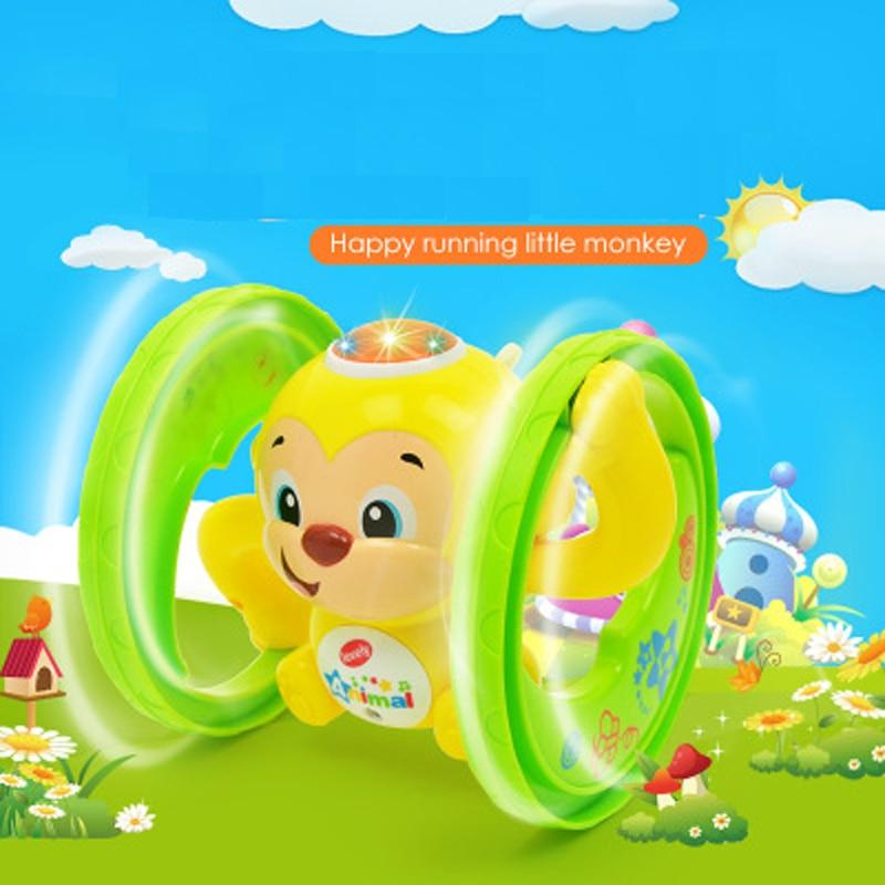 Toy Monkey Christmas-Toys Light Animal Music Random-Color Cartoon Cute with Children's