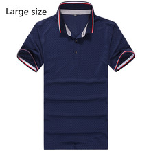 men large 95% cotton 2016 new summer loose male turn-down collar T-shirtplus size short-sleeve 4XL 5XL 6XL