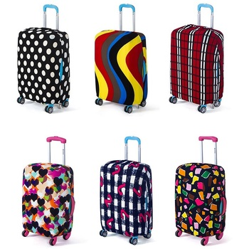 Wear dustproof Luggage Protective Covers Elastic Trolley Travel Suitcase Bag Dust Rain Cases For Accessories Travel Products sa pvc suitcase bag protective covers transparent rain dust luggage travel accessories wear resistant bag protect parts sleeve case
