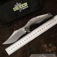 Green thorn original design quick-opening folding knife M390 blade TC4 titanium alloy handle camping outdoor bag knife EDC tool