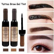 Eyebrow Gel Wine Shaped Black Coffee Gray Peel Off Eyebrow Tattoo Tint Shadow Eye Brow Gel Dye Eye Makeup Cosmetics