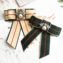 High quality Ties for women Fashion Bow Tie creative striped neck wear Wedding Party Bowtie hotel bank college shirt accessories