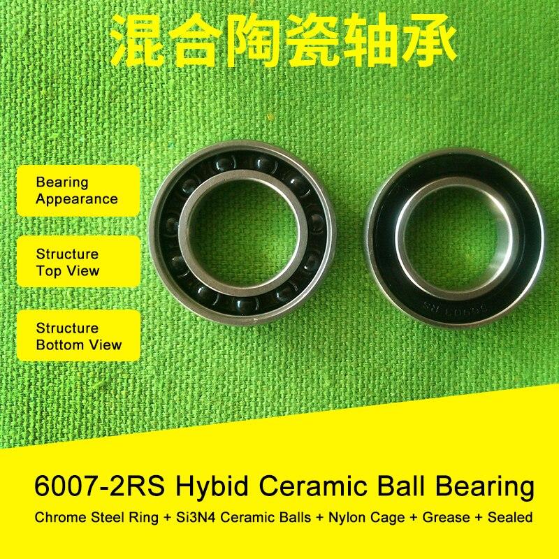 6007 Hybrid Ceramic Bearing 35x62x14 mm ABEC-1 ( 1 PC ) Bicycle Bottom Brackets & Spares 6007RS Si3N4 Ball Bearings 6008 hybrid ceramic bearing 40x68x15 mm abec 1 1 pc bicycle bottom brackets