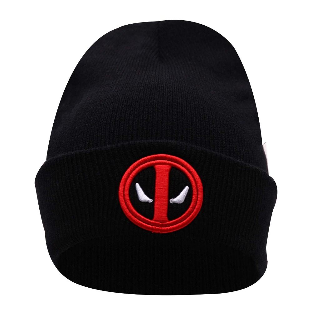 33482471fef New Hot Selling Cotton Deadpool Winter Hat Embroidery Men And Women Hats  Soft Solid Beanies Hip Hop Warm Knitted Caps Gorros-in Skullies   Beanies  from ...
